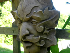 Green man garden sculptures